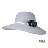 沙灘帽子女夏天韓版潮度假太陽帽大邊遮陽帽出游休閒【聚物優品】
