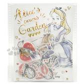 〔小禮堂〕迪士尼 愛麗絲 造型貼紙組附透明夾《藍白.素描風》裝飾貼 4991277-07829