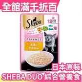 【幼貓用 柔軟小魚粥 12包入】日本 SHEBA DUO 綜合營養食 貓咪 餅乾 貓食【小福部屋】