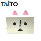 白色款【日本正版】阿愣 貓耳造型 鬧鐘 存錢筒 時鐘 鬧鈴 擺飾 TAITO - 326908