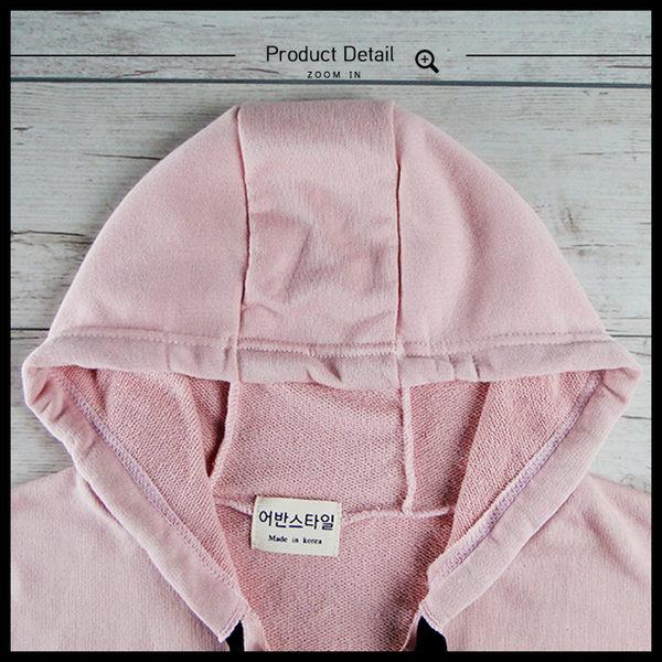 Melek 帽T (共3色) 現貨 【G06001151-0101~03】女W帽T黑繩雙袋長版 長版帽T/素色帽T