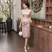 旗袍少女中國風式改良版走秀連身裙