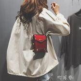 漆皮小包包女韓版百搭鉚釘鍊條小方包時尚單肩斜背包 盯目家