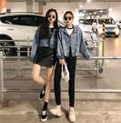 韓版寬鬆做舊原宿風牛仔外套女2018秋季新款百搭學生上衣短外套潮 電購3C