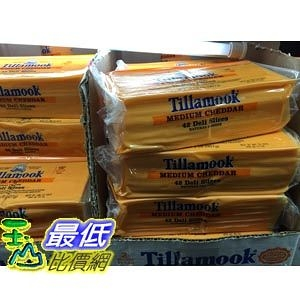 [COSCO代購] TILLAMOOK 中度熟成切達乾酪片 SLICED MEDIUM CHEDDAR 907G _C67917