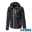 K-SWISS Color Trims Jacket抗UV防風外套-男-黑