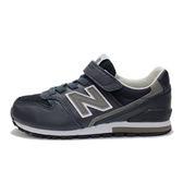 New Balance 中童鞋 深藍 灰 男女童鞋 兒童復古跑鞋 寬楦 慢跑鞋 NB 996 KV996NGY