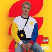 Levis X LEGO 男款 重磅大學T / 寬鬆休閒版型 / 樂高積木通用軟墊 / 附限定版積木 / 樂高色塊拼接