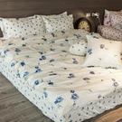 床包 / 單人【玫果雪酪藍】含一件枕套  100%精梳棉  戀家小舖台灣製