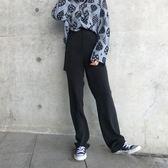 闊腿褲女秋冬高腰拖地褲工裝褲bf風西裝褲寬鬆休閒直筒垂感長褲 檸檬衣舍