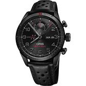 ORIS 豪利時 Audi Sport 鈦限量賽車聯名計時手錶-黑/44mm 0177876617784-SetLS