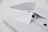 【金‧安德森】白領藍條紋窄版短袖襯衫