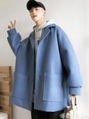 防風外套 冬季加厚男士毛呢大衣中長款潮流學生情侶風衣英倫防風呢子外套男 交換禮物