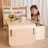書桌 寶寶寫字畫畫學習桌兒童桌椅套裝多功能吃飯實木桌子幼兒園游戲桌【免運】