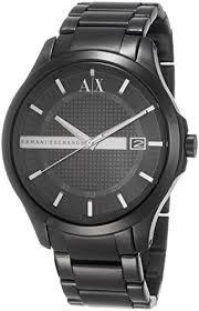 ARMANI AX亞曼尼 Hampton 黑色男錶 AX2104經典款式 男錶女錶對錶情侶錶 送禮