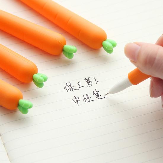 紅蘿蔔0.5mm中性筆 學校 辦公 文具 實用 學生 黑色 書寫 筆記 塗鴉 草稿 【P217】MY COLOR