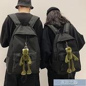 雙肩包 大容量書包女韓版初高中大學生校園時尚百搭背包男潮流雙肩包黑 快速出貨