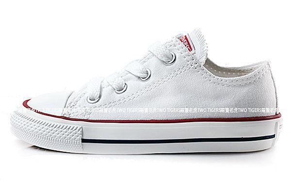 CONVERSE ALL STAR 白色 低筒 鞋帶款 基本款帆布鞋 小童鞋 NO.Q3937