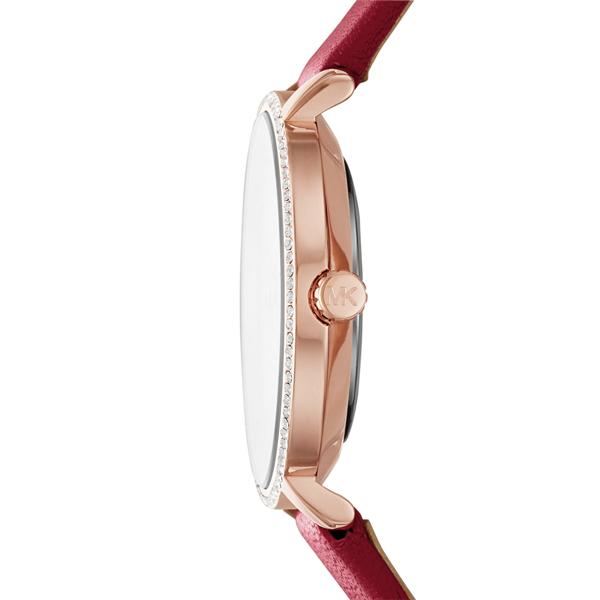 Michael Kors 熱情閃耀晶鑽腕錶-紅