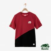 男裝ROOTS 周年系列幾何短袖T恤-紅色