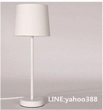 布藝檯燈 宜家現代簡約燈飾  放臥室床頭 白色北歐風