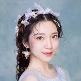 新娘頭飾森系超仙公主手工韓式白紗結婚發飾婚紗禮服配飾新款2017gogo購