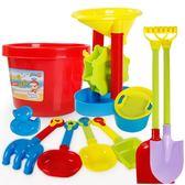 沙灘玩具 建雄兒童沙灘玩具車套裝挖沙鏟子桶男孩女孩寶寶玩沙子決明子工具 夢幻衣都