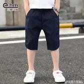 小象漢姆童裝男童夏天短褲兒童休閒薄褲子涼爽夏裝新款中大童 格蘭小舖
