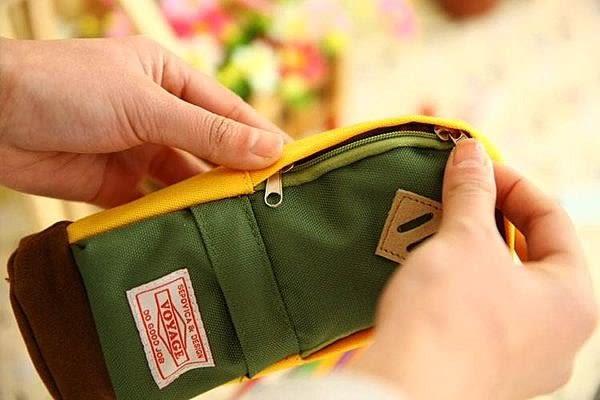 【發現。好貨】《 促銷期間$99 》韓國文具 牛津布書包筆袋 創意筆袋 後背包筆袋