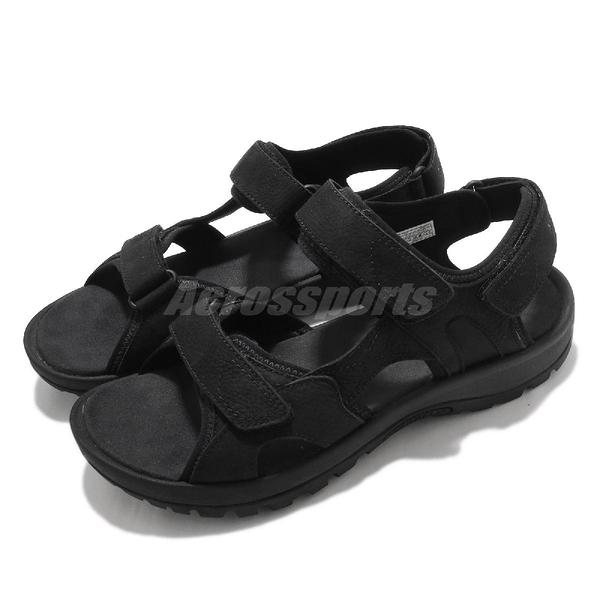 Merrell 涼拖鞋 Sandspur 2 Convert 黑 全黑 男鞋 魔鬼氈 戶外涼鞋 涼鞋 【ACS】 ML002715
