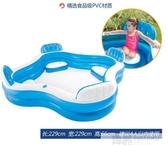 充氣游泳池兒童家用泳池透明加厚寶寶家庭戲水洗澡池  雙12購物節 YTL