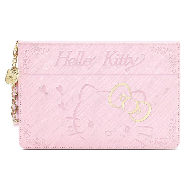 King*Shop~GARMMA Hello Kitty iPad mini 4摺疊式皮套–金豔粉