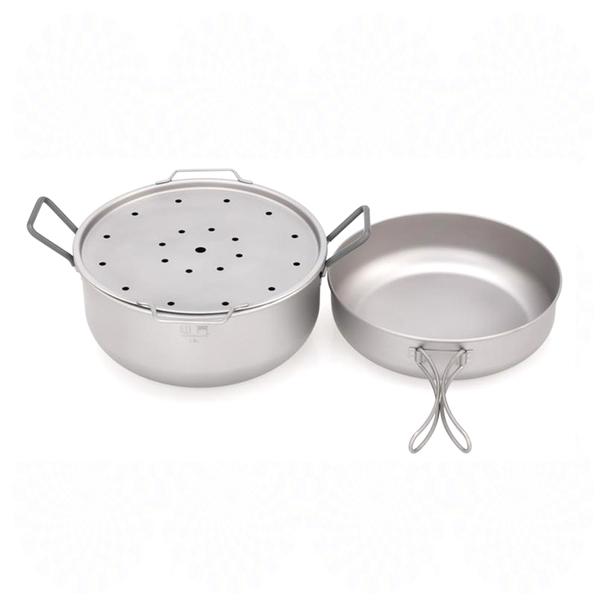 鎧斯 Keith Mi6015純鈦多功能蒸煮套鍋