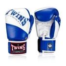 『VENUM旗艦館』TWINS 拳擊泰拳課程入門 手工真皮拳擊手套~14oz MMA搏擊比賽拳套- 白藍色 BGVL10