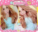 *╮Kinkee假髮╭*VICA示範  超級甜娃娃 蜜糖甜心款  大捲耐熱中長髮 現+預【K5001】