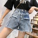 短褲2021年夏季新款牛仔短褲女學生高腰闊腿韓版寬鬆顯瘦a字超短熱褲 町目家