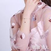 手鏈ins小眾設計925純銀韓版森系百搭氣質可調節流蘇小吊飾閨蜜 HX3503【極致男人】
