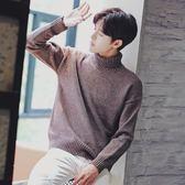 男士毛衣 冬季針織衫青少年高領毛衣加絨加厚寬松外套 巴黎春天