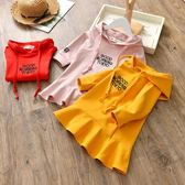 女童洋裝 童裝女童秋衛衣洋裝新款韓版潮時髦兒童連帽衛衣女孩裙子  凱斯盾數位3c