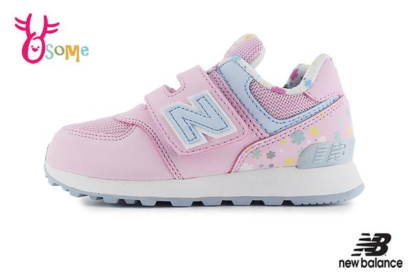 New Balance 574 LIFESTYLE 中大童 成人女款 氣質碎花 運動鞋 寬楦 輕量慢跑鞋 O8539#粉紅◆OSOME奧森鞋業