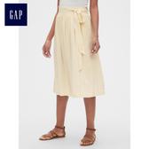 Gap 女裝 柔軟高腰中長款長裙 468660-代托納