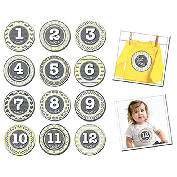 美國 Sticky Bellies寶寶月份貼紙-- 迷你寶貝(0-12M)