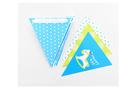 [韓風童品]藍色木馬點點款三角彩旗派對裝飾 party裝飾 節慶佈置 生日派對場景布置 兒童房佈置