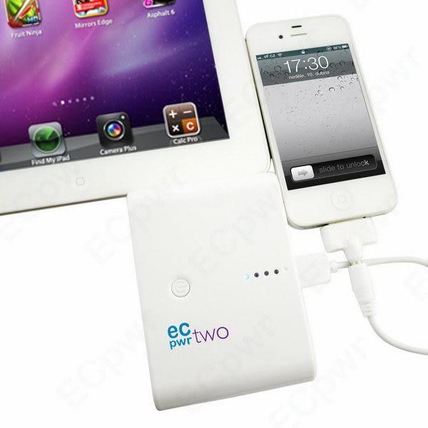 【筆坊】ECPWR 10000MAH 行動電源/附接頭Apple/Samsung/Miceo USB/Mini USB/DC2.0/一年保固(加贈防塵袋)