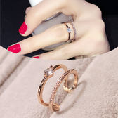 戒指 簡約百搭歐美指環韓版女戒學生飾品韓國時尚夸張女士戒指食指【快速出貨特惠八五折】