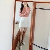 白色一步裙包臀裙子短裙包裙
