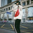 胸包女2019潮韓版女胸包胸前時尚潮流個性字母PU腰包男女中性Mandyc