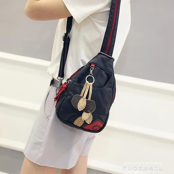 熱賣胸包 後背包女新款潮女士包包韓版時尚胸包百搭兩用軟皮迷你小背包 新品