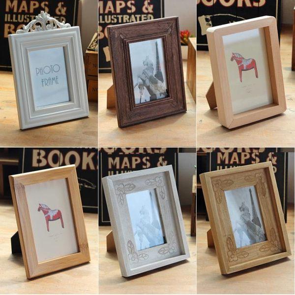 創意復古木制相框擺臺橫豎6寸7寸兒童畫框寶寶成長照片擺臺裝飾品-Ifashion