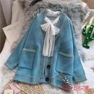 針織開衫 毛衣外套女開衫寬鬆厚新款秋冬小...